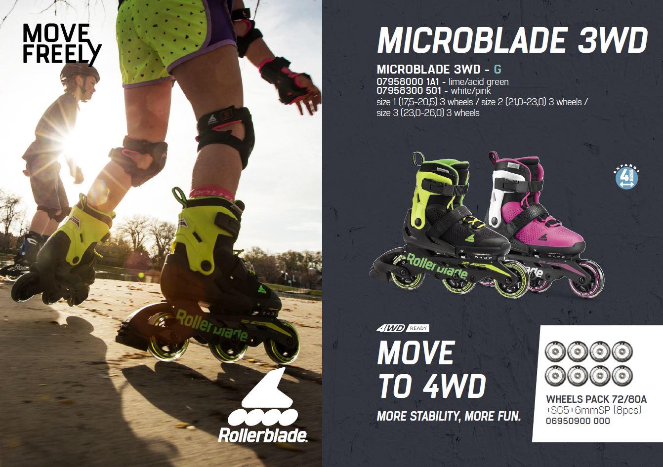 اسکیت رولربلید مدل Microblade 3WD G