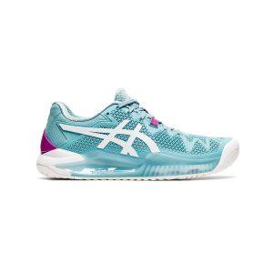 کفش تنیس زنانه اسیکس مدل GEL-Resolution 8 Smoke Blue/White